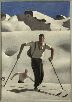 Art Print: Poster of Alfons Walde by Alfons Walde : Tempera, Kunst Online, Art Of Man, Museum, Cool Posters, Ski Posters, Male Figure, Sports Art, Gay Art