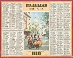Almanach des Postes 1961