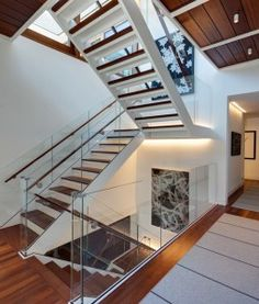 Indoor Stainless Steel Grand Staircase Designs, Find Details about Wood Staircase, Steel Staircase from Indoor Stainless Steel Grand Staircase Designs - Shenzhen Prima Industry Co. U Shaped Staircase, Staircase Railings, Grand Staircase, Banisters, Staircases, Railing Design, Staircase Design, Staircase Ideas, Grande Cage D'escalier