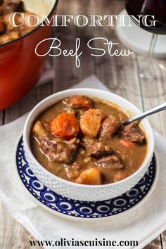 Comforting Beef Stew   www.oliviascuisine.com #comfortfood #comforting #fall