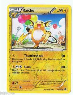 Pokemon Card Next Destinies Reverse Holo Raichu 40/99 FREE combined shipping