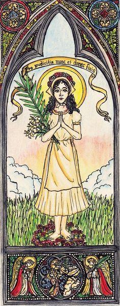 Saint Maria Goretti by Theophilia.deviantart.com on @deviantART