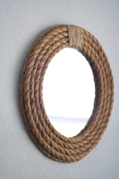 DIY Mirrors - DIY Rope Mirror - Best Do It Yourself Mirror Projects and Cool Crafts Using Mirrors - Home Decor, Bedroom Decor and Bath Ideas - Step By Step Tutorials With Instructions http://diyjoy.com/diy-mirrors
