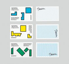 Visual identity and business cards by Kokoro & Moi for architecture and construction business Poseidon Helsinki. Minimal Business Card, Business Card Design, Business Cards, Helsinki, Brand Identity Design, Branding Design, Simple Shapes, Name Cards, Design Reference