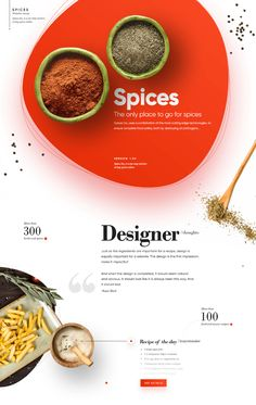 Just as the ingredients are important for a recipe, the design is equally important for a website. The design is the first impression, make it impactful! Ux Design, Food Web Design, Design Social, Design Poster, Graphic Design, Design Trends, Best Website Design, Website Design Layout, Website Design Inspiration