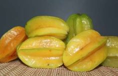 Balimbing, Star Fruit or Carambola - The entire fruit is edible, including the slightly waxy skin. The flesh is crunchy, firm, and extremely juicy, having a texture similar in consistency to that of grapes.