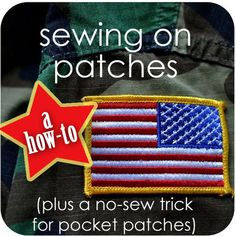 How to Sew on Patches {plus a no-sew trick for pocket patches} #scouts