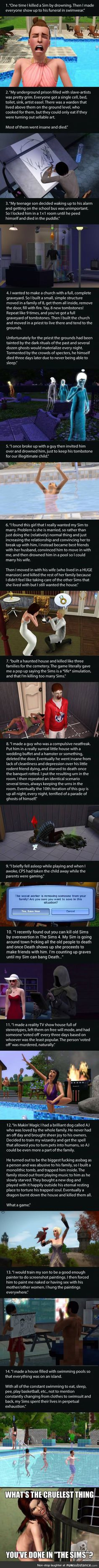 14 Most Messed Up Things People Have Done Playing The Sims