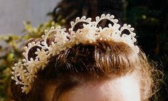 Antique wax flower Bridal Tiara