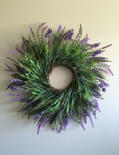 Lavender Wreath / Purple Wreath / Spring Wreath by SouleHomeDecor