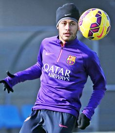Neymar Da Silva Santos Jr. #footballislife Neymar Jr, Club, Fc Barcelona, My Hero, Soccer, Football, Baseball Cards, My Love, Sports