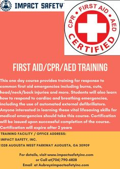 Looking for OSHA Training Center to get your compliance and safety training? Contact us for OSHA safety certification and join our training classes today. First Aid Cpr, Safety And First Aid, Osha Safety Training, Back Injury, Training Classes, Training Center, Head And Neck, Fitness Tips, Burns