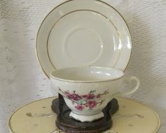 Vintage Jananese Cherry Blossom Tea Cup and by OurBarefootCottage, $9.75