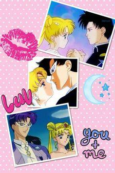 Serena and darien forever Neo Queen Serenity, Princess Serenity, Darien Sailor Moon, Tuxedo Mask, Sailor Moon Character, Moonlight, Chibi, Otaku, Nerdy