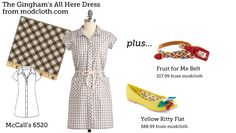(via Make This Look: The Gingham's All Here Dress | The Sew Weekly - Sewing & Vintage Lifestyle)