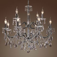 Modern Crystal Chandelier | Decorating with Chandeliers | DivineNY.com