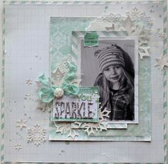 You Sparkle - Scrapbook.com  A layout by Sarah Bargo for Marion Smith Designs!
