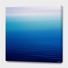 """""""shades of blue"""", Numbered Edition Canvas Print by Steffi Louis - From $69.00 - Curioos"""