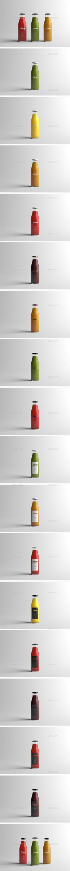 Juice Bottle Packaging MockUp — Photoshop PSD #foil #realistic • Available here → https://graphicriver.net/item/juice-bottle-packaging-mockup/15897481?ref=pxcr