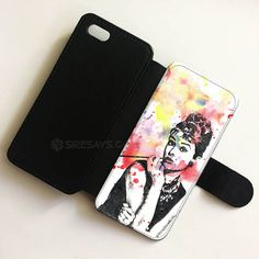 Audrey Hepburn Painting wallet case, Wallet Phone Case     Buy one here---> https://siresays.com/Customize-Phone-Cases/audrey-hepburn-wallet-case-wallet-phone-case-iphone-6-plus-wallet-iphone-cases-wallet-samsung-cases-ipad-mini-cases-for-kids-customize-your-own-shirt/