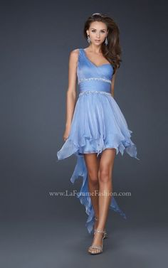 Vestidos de Fiesta 2012 Asimetricos. Coleccion La Femme Fashion.