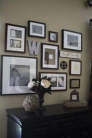you could do a wall for each member of the family featuring their letter how cool