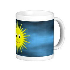 Smiling Sun with blue sky mug