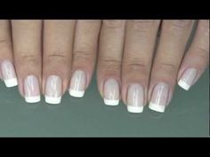 Perfect French Manicure | DIY French Manicure Links to way too many nail tutorials to ever try! Fun! # Pin++ for Pinterest #