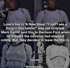 I want to hope that somewhere there is footage of Mark Hamill running into walls while wearing a storm trooper helmet
