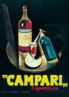 Leonetto Cappiello Marcello Nizzoli Campari print for sale. Shop for Leonetto Cappiello Marcello Nizzoli Campari painting and frame at discount price, ships in 24 hours.