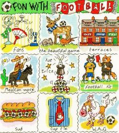 A Dictionary of Football - Bothy Threads cross stitch kit