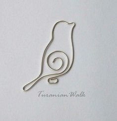 Vogel cable bookmark by TuranianWalk uff Etsy The post Vogel wire bookmark . - Vogel wire bookmark by TuranianWalk uff Etsy The post Vogel wire bookmark appeared first on DIY pro - Wire Crafts, Jewelry Crafts, Handmade Jewelry, Handmade Wire, Diy Jewellery, Jewellery Shops, Diamond Jewellery, Metal Crafts, Handmade Items
