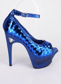 cut-out platform heel