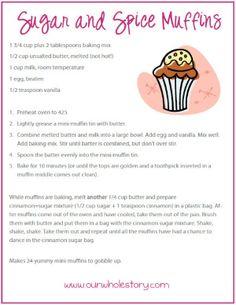 Sugar & Spice Muffins Mix (and the muffin recipe, too) :)