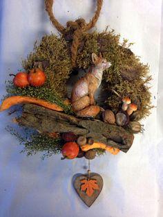 Türkränze - Herbstlicher Türkranz aus natürlicher Deko - ein Designerstück von…