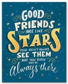 Art Print- Good Friends Are Like Stars