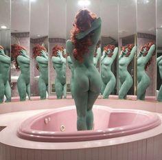 Nothing butt A Dream In Green by Juno Calypso - via @avant.arte. on Instagram