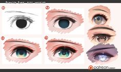 Drawing eyes - mini version by kawacy.deviantart.com on @DeviantArt