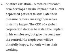 This is one scary, but fascinating, prompt. Would someone try to save the employees? And would they want to be saved?
