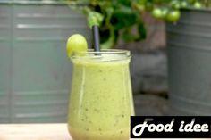 smoothie met kiwi en druiven Superfoods, Pudding, Vegetables, Kiwi, Desserts, Healthy Food, Tailgate Desserts, Healthy Foods, Deserts