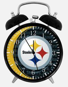 8b6a591f4 Steelers Alarm Desk Clock 3.75  Room Decor X54 Will Be a Nice Gift  gt