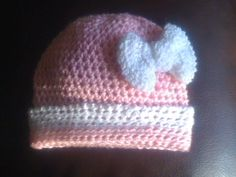 Baby Hat with Bow Baby Hats, Crocheting, Beanie, Bows, Knitting, Fashion, Crochet, Arches, Moda