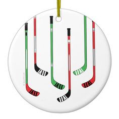 Hockey Sticks Christmas Ornament. Decorate for Christmas... hockey style.