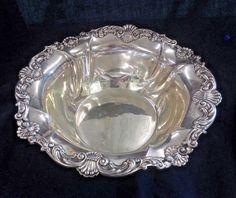 Sterling Silver Gorham 10 in Bowl #A2227 w  Scrolls & Shells circa 1900 11 oz #Gorham