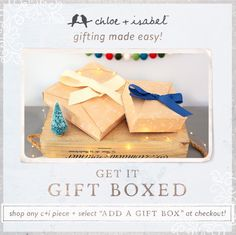 Gift wrapping to make your holiday that much easier! Check out my boutique for your interactive gift guide!  www.chloeandisabel.com/boutique/ljbijou #fashion #jewelry #holiday #gift #love #chloeandisabel