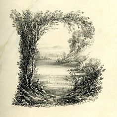 A Mid-19th C Landscape Alphabet.  Oh I wish I could see all the letters.