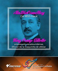 #UnDíaComoHoy 5 de enero pero de 1855 nace King Camp Gillette, empresario estadounidense, difusor de la maquinilla de afeitar.