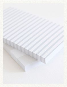 striped notepads.