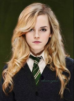 Slytherin Hermione -  I like this. She would totally have gotten along with Snape then....