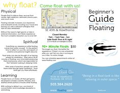 Float On. float tanks? this looks SO COOL